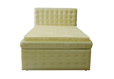 Italian Mastrotto Ottoman Leather Bed